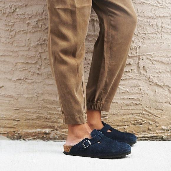 bbad2a5c73e0 Birkenstock Shoes - Birkenstock Boston Mule Navy 39